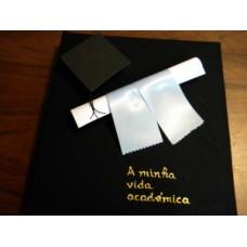 Album grande - A Minha Vida Académica - canudo e chapéu
