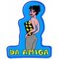 Amiga (Fundo Azul)