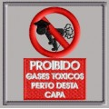 Proibido gases toxicos perto desta capa