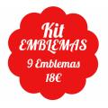 Kit 9 emblemas obrigatórios