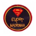 Super madrinha (redondo super homem)
